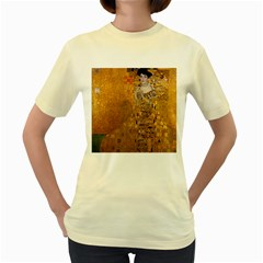 Adele Bloch Bauer I   Gustav Klimt Women s Yellow T Shirt