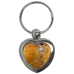 Adele Bloch Bauer I   Gustav Klimt Key Chains (heart)  by Valentinaart