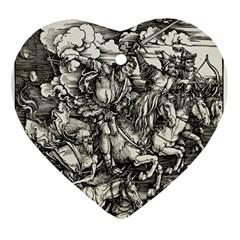 Four Horsemen Of The Apocalypse   Albrecht D¨1rer Ornament (heart)