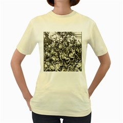 Four Horsemen Of The Apocalypse   Albrecht D¨1rer Women s Yellow T Shirt