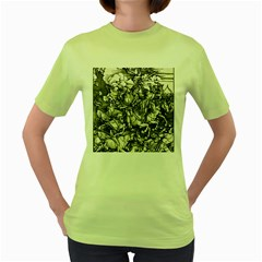 Four Horsemen Of The Apocalypse   Albrecht D¨1rer Women s Green T Shirt