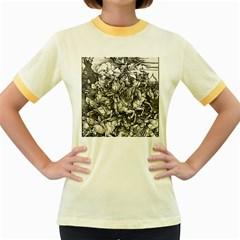 Four Horsemen Of The Apocalypse   Albrecht D¨1rer Women s Fitted Ringer T Shirts