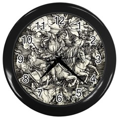 Four Horsemen Of The Apocalypse   Albrecht D¨1rer Wall Clocks (black)