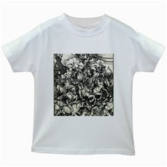 Four Horsemen Of The Apocalypse   Albrecht D¨1rer Kids White T Shirts