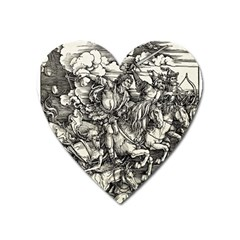 Four Horsemen Of The Apocalypse   Albrecht D¨1rer Heart Magnet