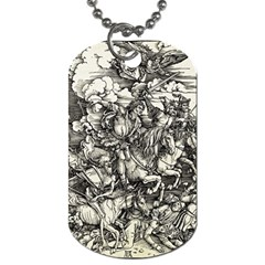 Four Horsemen Of The Apocalypse   Albrecht D¨1rer Dog Tag (two Sides)