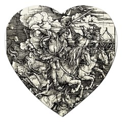 Four Horsemen Of The Apocalypse   Albrecht D¨1rer Jigsaw Puzzle (heart)