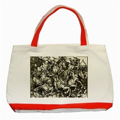 Four Horsemen Of The Apocalypse   Albrecht D¨1rer Classic Tote Bag (red)