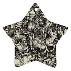 Four Horsemen Of The Apocalypse   Albrecht D¨1rer Star Ornament (two Sides)