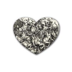 Four Horsemen Of The Apocalypse   Albrecht D¨1rer Heart Coaster (4 Pack)