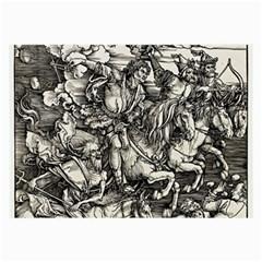 Four Horsemen Of The Apocalypse   Albrecht D¨1rer Large Glasses Cloth (2 Side)
