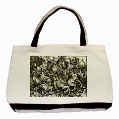 Four Horsemen Of The Apocalypse   Albrecht D¨1rer Basic Tote Bag (two Sides)
