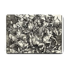 Four Horsemen Of The Apocalypse   Albrecht Dürer Small Doormat  by Valentinaart