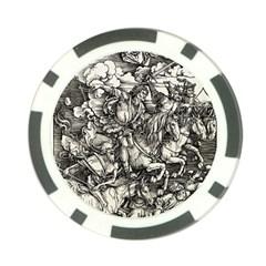 Four Horsemen Of The Apocalypse   Albrecht D¨1rer Poker Chip Card Guard (10 Pack)