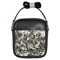 Four Horsemen Of The Apocalypse   Albrecht Dürer Girls Sling Bags by Valentinaart