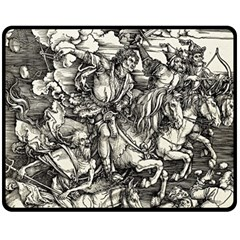 Four Horsemen Of The Apocalypse   Albrecht D¨1rer Fleece Blanket (medium)