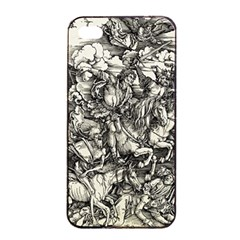 Four Horsemen Of The Apocalypse   Albrecht D¨1rer Apple Iphone 4/4s Seamless Case (black)