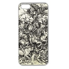 Four Horsemen Of The Apocalypse   Albrecht D¨1rer Apple Seamless Iphone 5 Case (clear)