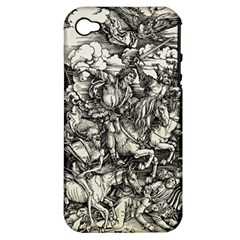 Four Horsemen Of The Apocalypse   Albrecht D¨1rer Apple Iphone 4/4s Hardshell Case (pc+silicone)