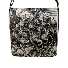 Four Horsemen Of The Apocalypse   Albrecht D¨1rer Flap Messenger Bag (l)