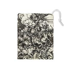Four Horsemen Of The Apocalypse   Albrecht D¨1rer Drawstring Pouches (medium)