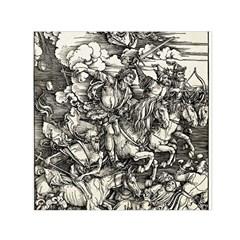 Four Horsemen Of The Apocalypse   Albrecht D¨1rer Small Satin Scarf (square)