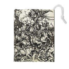 Four Horsemen Of The Apocalypse   Albrecht D¨1rer Drawstring Pouches (extra Large)