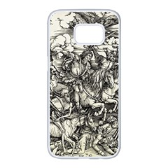 Four Horsemen Of The Apocalypse   Albrecht D¨1rer Samsung Galaxy S7 Edge White Seamless Case