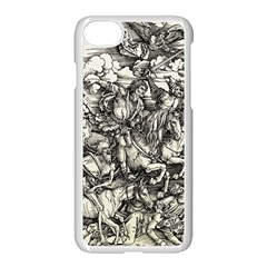Four Horsemen Of The Apocalypse   Albrecht D¨1rer Apple Iphone 8 Seamless Case (white)