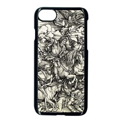 Four Horsemen Of The Apocalypse   Albrecht D¨1rer Apple Iphone 8 Seamless Case (black)