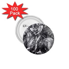 Death And The Devil   Albrecht D¨1rer 1 75  Buttons (100 Pack)