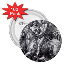 Death And The Devil   Albrecht D¨1rer 2 25  Buttons (100 Pack)