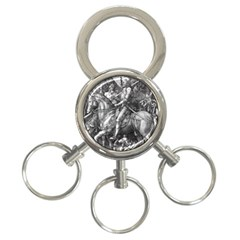 Death And The Devil   Albrecht D¨1rer 3 Ring Key Chains