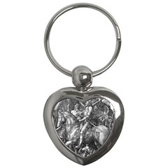 Death And The Devil   Albrecht D¨1rer Key Chains (heart)