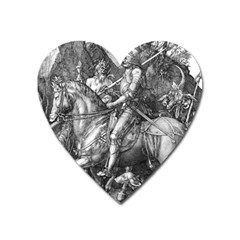 Death And The Devil   Albrecht D¨1rer Heart Magnet