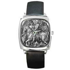 Death And The Devil   Albrecht D¨1rer Square Metal Watch