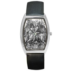 Death And The Devil   Albrecht D¨1rer Barrel Style Metal Watch