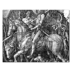 Death And The Devil   Albrecht D¨1rer Rectangular Jigsaw Puzzl