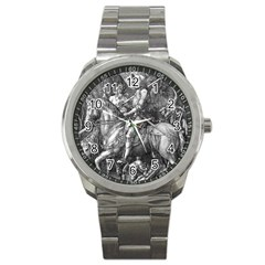 Death And The Devil   Albrecht D¨1rer Sport Metal Watch