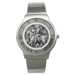Death And The Devil   Albrecht D¨1rer Stainless Steel Watch