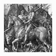 Death And The Devil   Albrecht D¨1rer Medium Glasses Cloth (2 Side) by Valentinaart