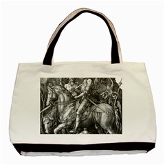 Death And The Devil   Albrecht D¨1rer Basic Tote Bag (two Sides)