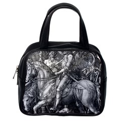 Death And The Devil   Albrecht D¨1rer Classic Handbags (one Side)