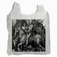 Death And The Devil   Albrecht D¨1rer Recycle Bag (two Side)