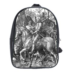 Death And The Devil   Albrecht D¨1rer School Bag (large)