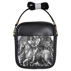 Death And The Devil   Albrecht D¨1rer Girls Sling Bags