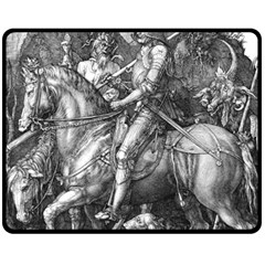 Death And The Devil   Albrecht D¨1rer Fleece Blanket (medium)