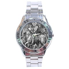 Death And The Devil   Albrecht D¨1rer Stainless Steel Analogue Watch