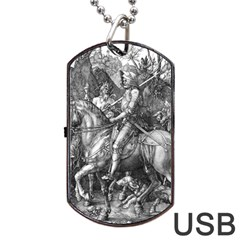 Death And The Devil   Albrecht D¨1rer Dog Tag Usb Flash (two Sides)