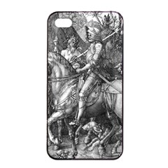 Death And The Devil   Albrecht D¨1rer Apple Iphone 4/4s Seamless Case (black)